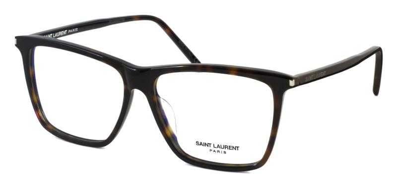 0c70f8d6854cef サンローランらしいエッジーなデザインがクールなスクエアフレーム。凛としたエレガントなデザインは、女性に着用していただきたいメガネです。